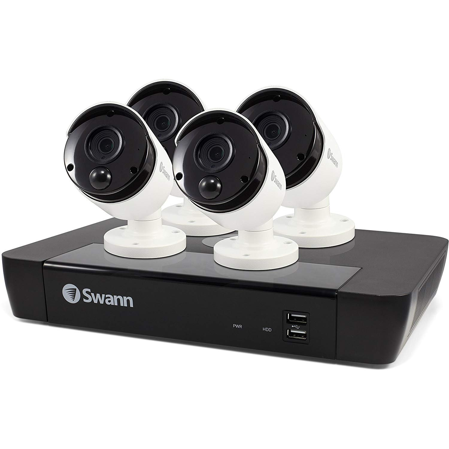 Swann 8 Channel Security System: 5MP Super HD NVR-8580 with 2TB HDD Thermal Sensing Cameras