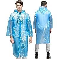 OMZGXGOD 10 Pezzi Poncho da Pioggia USA e Getta, Poncho di Emergenza Impermeabili Durevoli Trasparenti, Impermeabili…