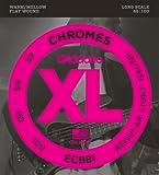 D'Addario ECB81 Set Corde Basso Chromes Flat Wound
