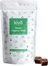 Kiva All Natural Organic Masala Jaggery Candies with No Preservatives Added and Gluten (20x8gm Per Pack)