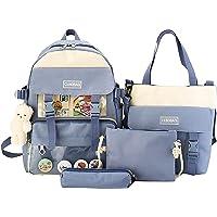 Schulrucksack Mädchen Teenager 4 Set Jungen Schultasche Rucksack Campus mit Ergonomischem Design Canvas Backpack…