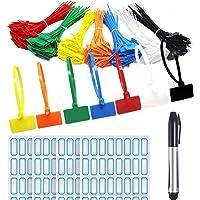 Attaches Pour Marqueurs De Câble,250 pièces Nylon Câble Zip Liens étiquettes Marqueur Verrouillage Automatique avec pour…