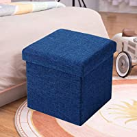 ABTRIX WITH AB Folding Organizer Storage Ottoman Bench Footrest Stool Coffee Table Cube, Camping Fishing Toys Chest…