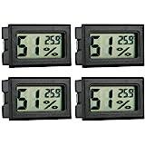GuDoQi Termometro Higrometro Digital, 4 Piezas, Termómetro Acuario, Termometros para Incubadoras, Incubadoras de Huevos, Terr