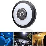 Led-nachtlampje, 3 kleuren, voor in de kofferbak, leeslamp, leeslamp, magnetisch dimbaar, USB oplaadbaar, ledlicht voor auto,
