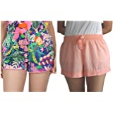 B STORIES Women's Two Pack Lounge Shorts
