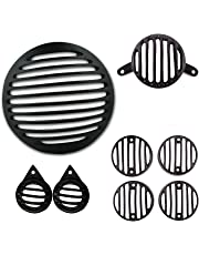 Autofy Metal Grill for Royal Enfield Bullet Classic 350 & 500 (Black, Set of 8)