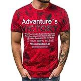 ASHOP Camisetas Hombre 2019 Summer T-Shirt Casual ZT99 Advanture's Victory Impresa Manga Corta Top Chaleco Verano Basic Algod