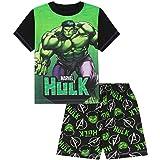 Boys The Incredible Hulk Black Green Short Pyjamas ss21