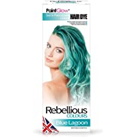 Rebellious Colours 100% Vegan Semi Permanent Hair Dye Colour 70ml (Blue Lagoon)