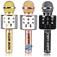 MAGBOT Advance UTX Handheld Wireless Singing Mike Multi-function Bluetooth Karaoke Mic with Microphone Speaker For All…
