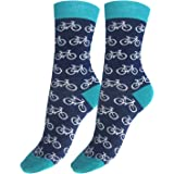 BIANCHI SOCKMAKERS IN ITALY - SINCE 1932 - Calze corte disegno bici, Donna