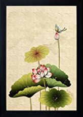 SAF flower Painting || Floral painting || Flower poster || Flower wall stickers || SAF exclusive Framed Wall Art Paintings for Living room and Bedroom. Frame size (12 inch x 8 inch, (Wood, 25 cm x 3 cm x 35 cm, Special Effect Textured)