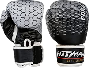 Hitman by Triumph Force Printing Black (BX-24-1) PU Boxing Gloves