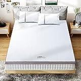 BedStory [Nouvelle Technologie Surmatelas 140 x 190 x 5cm Mémoire de Forme Gel Infusé, Surmatelas 2 Personnes Plus Rafraichis
