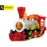 Zest 4 Toyz Bubble Train Engine Toy Set with Extra Bubble Bottle for Long Funtime