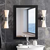 Art Street Synthetic Wood Wall Mirror (59.2 x 49.6 x 3.6 cm, Black)