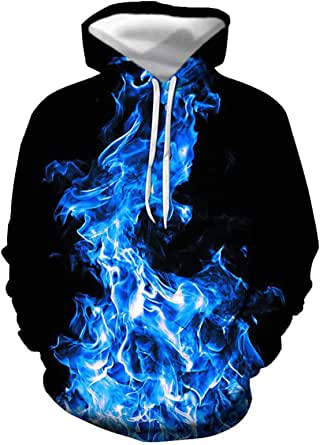 SLYZ European and American Men's Autumn and Winter New Musical Note Casual Hooded 3D Digital Printing Creative Casual Men's Sweater