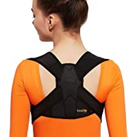 kossto Posture Corrector for Clavicle Support, Adjustable Back Straightener and Providing Pain Relief from Neck, Back…