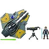 Star Wars Mission Fleet Stellar Class Anakin Skywalker Jedi Starfighter 6 cm schaal figuur en voertuig, speelgoed voor kinder