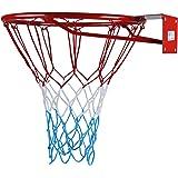 Kimet HangRing Basketballkorb Basketball Basketballring mit Ring und Netz Qualität-und Sicherheitsgeprüft Abmessungen: Ø 45 cm und 37 cm (zur Auswahl)