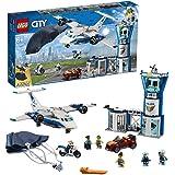 LEGO City BasedellaPoliziaAerea, Aereo con Paracadutista e Jetpack,Moto e Automobile,Set di Costruzioni per Inseguimenti