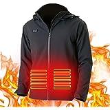YANE Chaleco de calefacción eléctrica, calor y carga USB, tres tipos de ropa ajustable a la temperatura, actividades al aire
