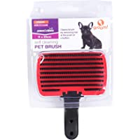 PetSamrat Self Cleaning Plastic Grooming Brush for Dogs and Cats (Color May Vary, 11 x 20 cm)