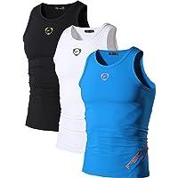 jeansian Uomo 3 Packs Sportivo Palestra Muscolo Formazione Veste Canotta Fashion Workout Gilet LSL3306