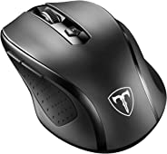 VicTsing MM057 2.4G Wireless Portable Mobile Mouse Optical Mice with USB Receiver, 5 Adjustable DPI Levels, 6 Buttons for Not