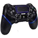Mando Inalámbrico para PS4, Mando para PS4/Pro/PC con Touch Pad y Conector de Audio Doble vibración Antideslizante Wireless B