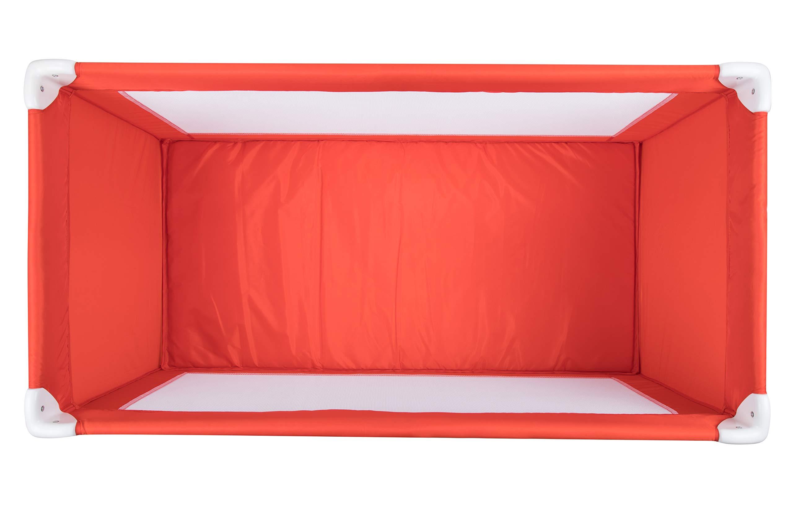 Safety 1st 2114260000 Soft Dreams Travel Umbrella Bed Red Lines  DORA3