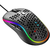 Ratón Gaming , RGB Ratón Gaming con Efectos de iluminación LED / 7200 dpi Ajustables / 6 Botones Programables - Ratones para