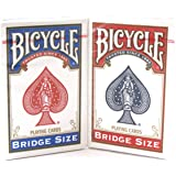 Bicycle Bridge Standard Index Playing Cards - 1 Red Deck and 1 Blue Deck by Bicycle