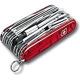 Victorinox Zakmes Swiss Champ XLT (49 functies, hakmes, bit-sleutel, bithouder) rood transparant