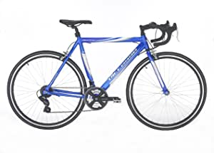 "Vitesse Sprint Unisex Road Bike Blue, 22.5"" inch alloy frame, 21 speed Shimano gearing steel road forks (2010 edition)"