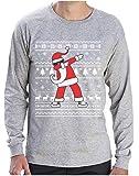 Tee Shirt de Noel Dab Père Noël Cool Hip-Hop T-Shirt Manches Longues Homme