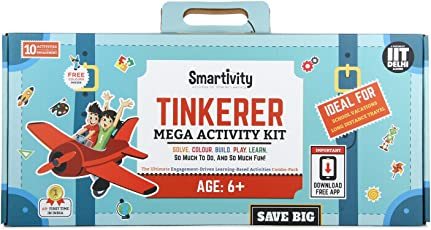 Smartivity Mega-Activity Kit - Tinkerer stem, DIY, Educational, Learning, Building and Construction Toy