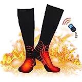 Beheizbare Socken mit Drahtloser Fernbedienung Herren Damen,7.4V 2600MAH Elektrische Wiederaufladbarem Batterie Socken, Winter-Baumwollsocken Fußwärmer für Skifahren Jagen Angeln Reiten Radfahren Camping Motorradfahren Auf 3,5-11 h