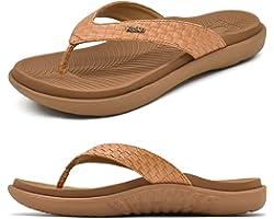 KUAILU Womens Flip Flops Ladies Yoga Mat Comfortable Walking Thong Sandals with Plantar Fasciitis Arch Support Slip On Indoor
