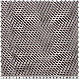 alfa HOME Musselin, Grafisches Muster, Beige/Mehrfarbig,