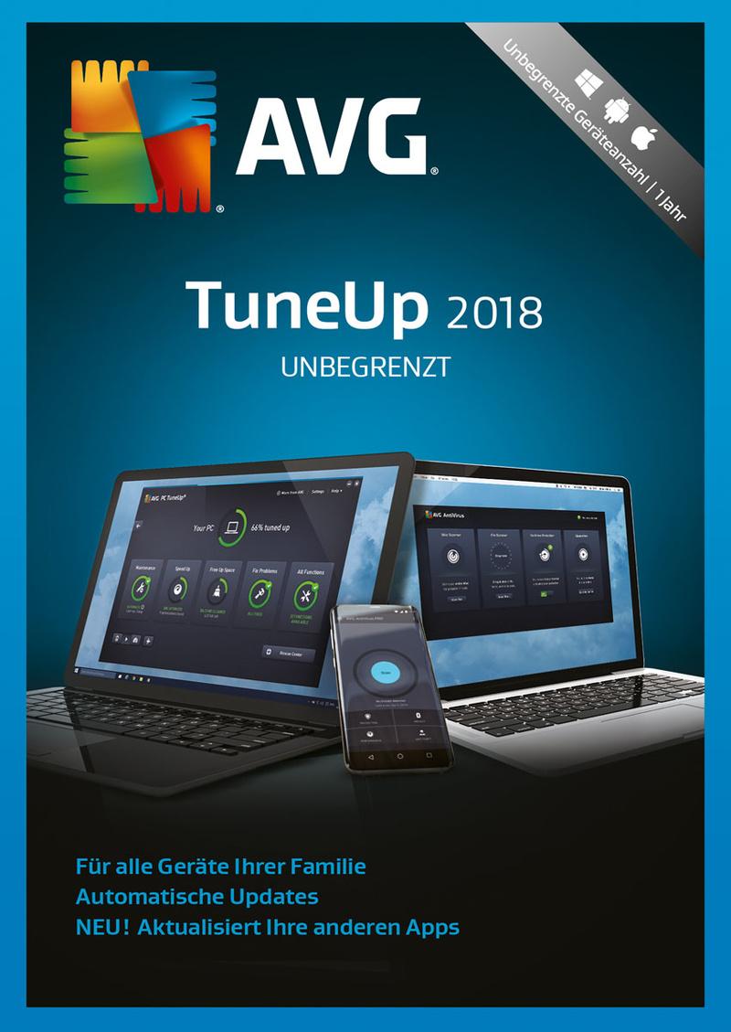 Preisvergleich Produktbild AVG TuneUp Unlimited 2018 / 24 Monate [Online Code]