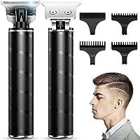 Haarschneider für Männer Pro Outliner T-Klingen-Trimmer Wiederaufladbarer 0MM Barttrimmer Herren mit 4 Führungskämmen…