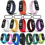 Milomdoi [19 unità] 15 Colori Cinturino + 4 Pezzi Pet Pellicola Protettiva per Cinturino Xiaomi Mi Band 6/Mi Band 5, Cinturin