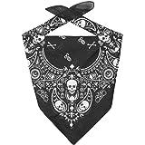 LIPODO Bandana in Cotone Skulls Donna/Uomo/Bambini - Sciarpa Fascia per Capelli Protezione Faccia Estate/Inverno