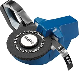 Herlitz 8754103 Prägegerät Mini mit Prägeband 1m schwarz