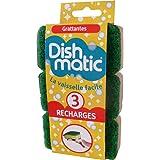 Dishmatic 3 Recharges Éponge Grattante Verte