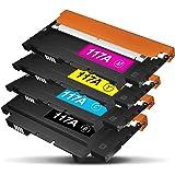 TonerKingdom 117A Cartuchos de Tóner compatibles, con Chips, Compatibles con HP Color Laser 150a 150w 150nw MFP 178nw 178nwg