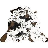 Imqoq Tapis imprimé imitation peau de vache antidérapant 110 x 75cm