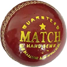 ABL Match 4 Piece Red Leather Ball for Match,Practice (Pack of 6)